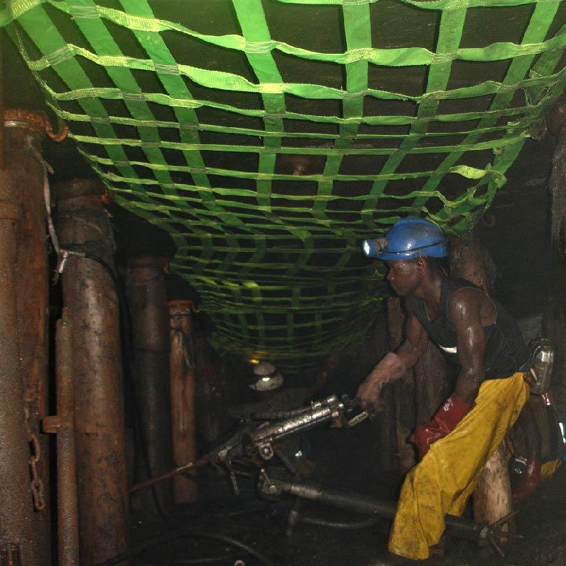underground mining rock grippa safety nets